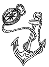Anchor and compass icon for London children's magician site.