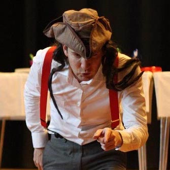 Pirate character in children's magician show.
